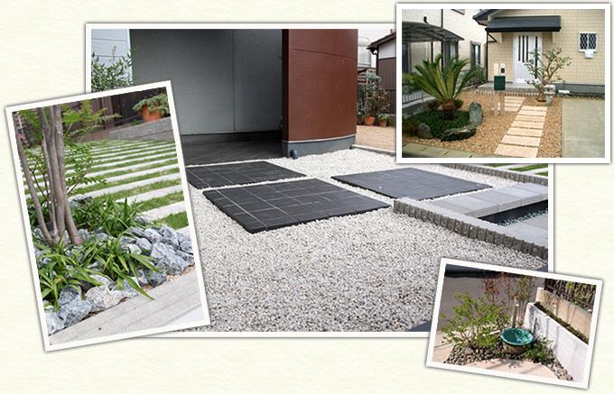 造園にしやまの砂利施工例